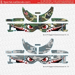 FPV Air Sharks Goggle Decal Wrap for Dominator V2-V3-HD-HDV2