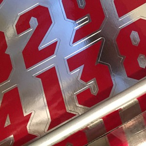 "DIE CUT NUMBERS • 1"" TO 3"" SIZES AVAILABLE"