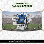 8 Feet x 3 Feet Custom Team Banners